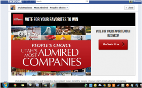 Vote for your favorite Utah Business and win!