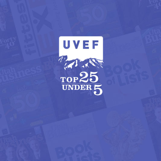Honored by UVEF in annual Top 25 Under 5