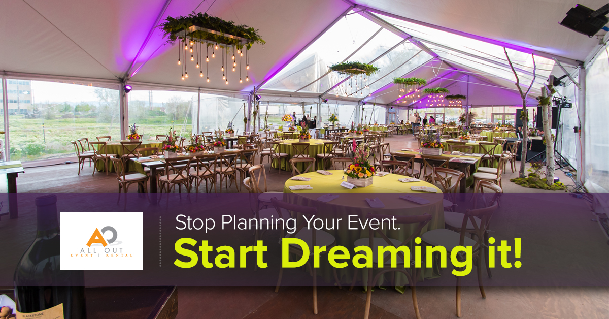 Stop planning your event. Start dreaming it!