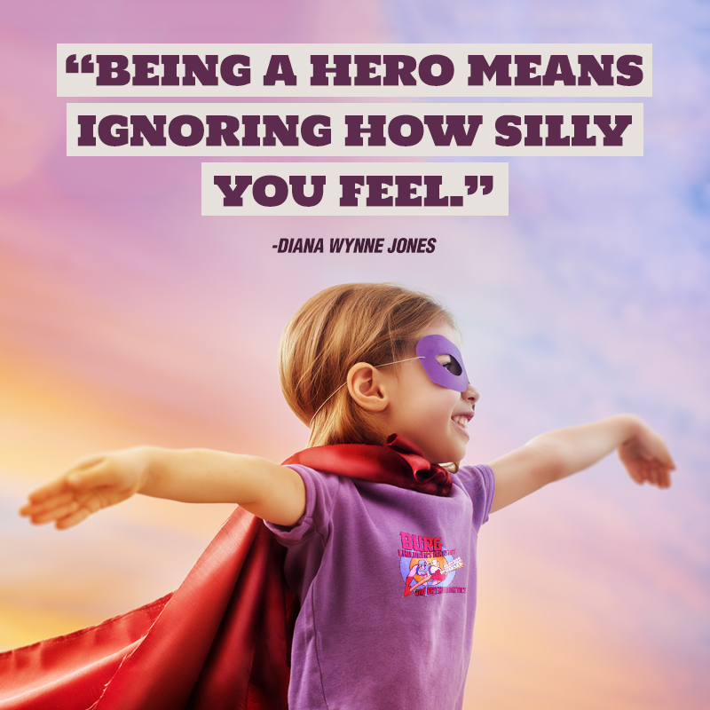 Being a hero means ignoring how silly you feel.