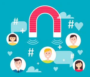 magnet attracting engagement and people