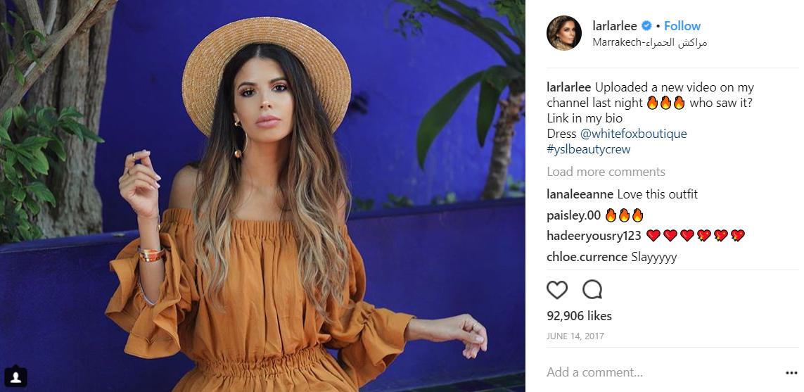 Instagram beauty blogger Laura Lee.