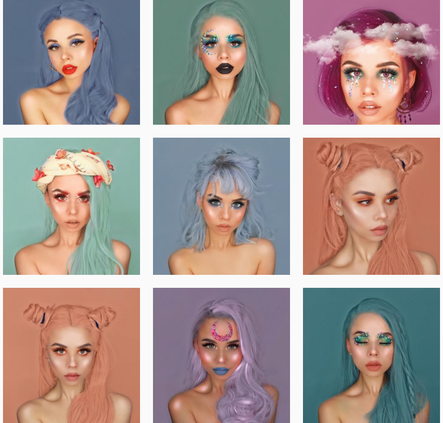 Instagram beauty blogger Eleanor's feed.