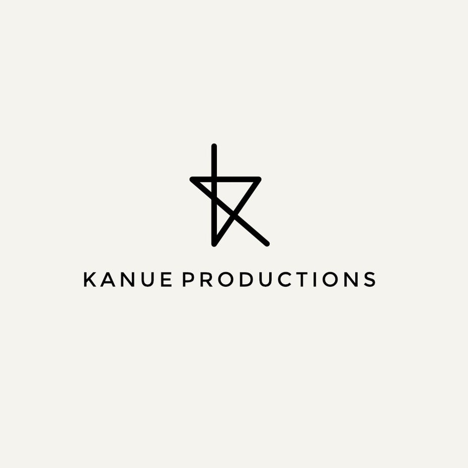 minimalist logo for Kanue Production