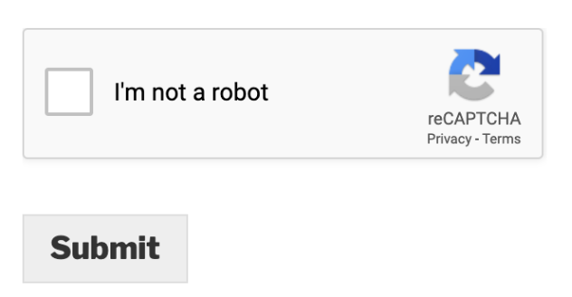 Image of new reCAPTCHA challenge