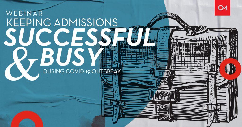 Admissions webinar header.