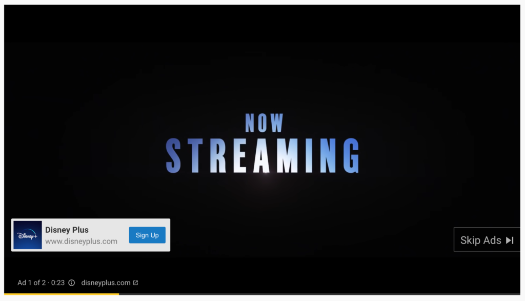example of a youtube ad