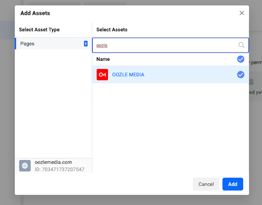 image of where to add your pages to your domain asset