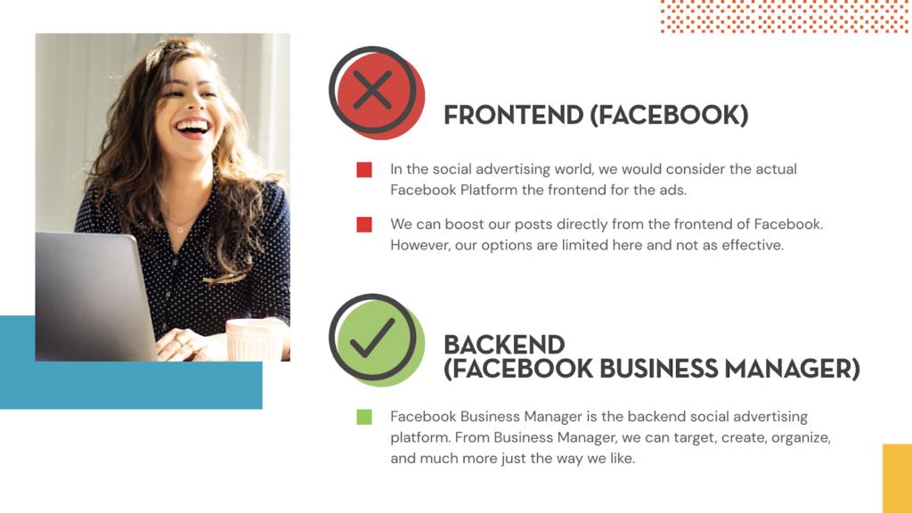 Front-end vs. Backend on Facebook