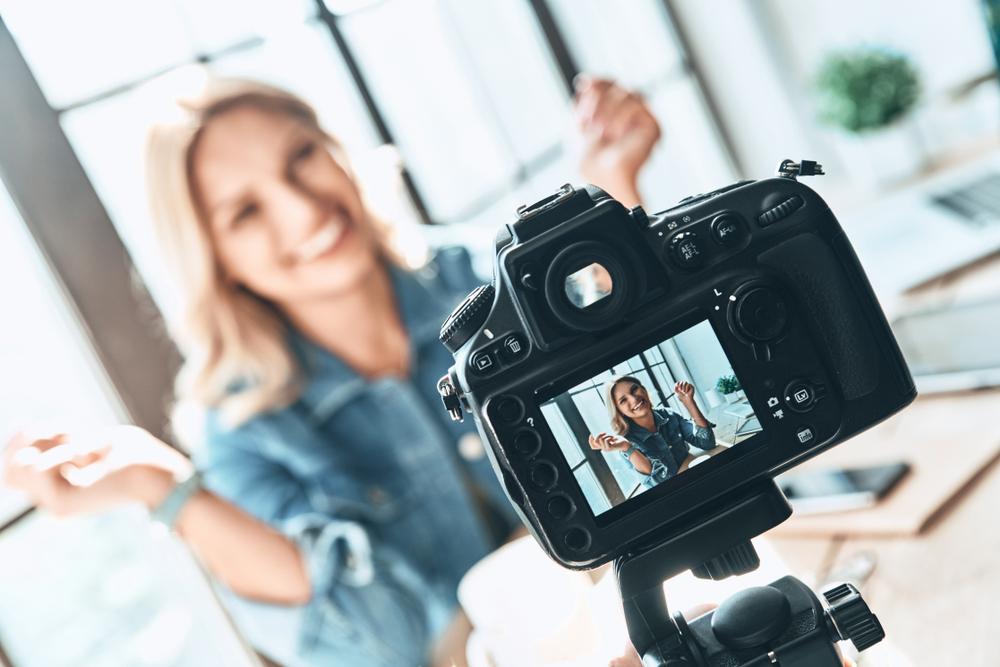 filming an influencer